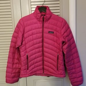 Patagonia down sweater jacket small pink coat